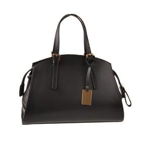 Kožená kabelka Emilio Masi Aston, čierna