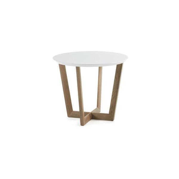 Odkladací stolík z dubového dreva s bielou doskou La Forma Rondo