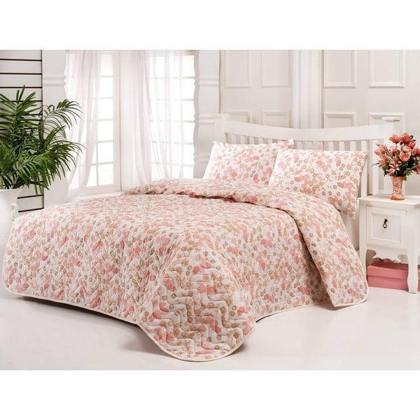 Sada prešívanej prikrývky na posteľ a vankúša Single 196, 160x220 cm