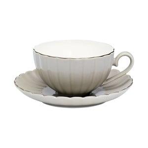 Hrnček s tanierikom Pastel warm grey