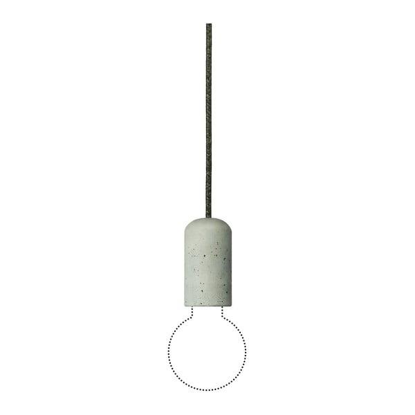 Svietidlo od Jakuba Velínského - tmavosivý textilný kábel, 1,2 m