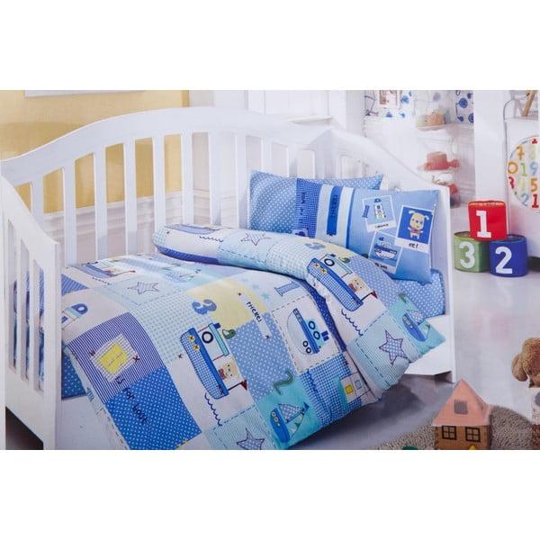 Set detských obliečok a plachty Blue Boats, 120x150 cm