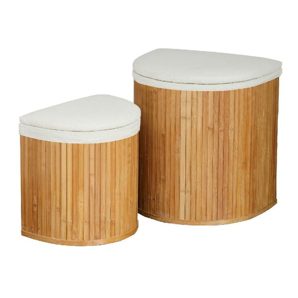 Set 2 košov na bielizeň Bamboo I