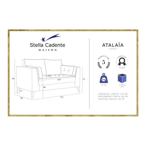 Svetlomodrá dvojmiestna pohovka s detailmi v krémovej farbe Stella Cadente Maison Atalaia Mint