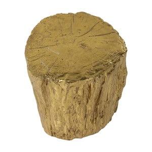 Stolička v zlatej farbe Kare Design Tronco, ⌀40cm