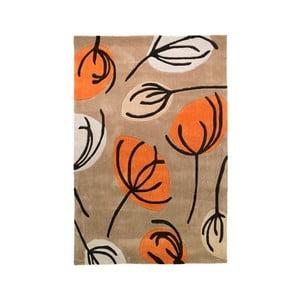 Koberec Fifties Floral 120x180cm, oranžový