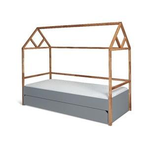 Sivá detská posteľ BELLAMY Lotta, 90×200 cm