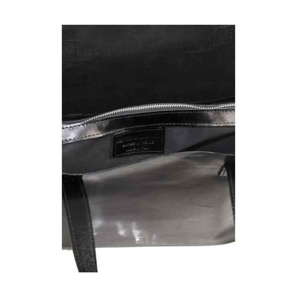 Čierna kožená kabelka Markese 8768