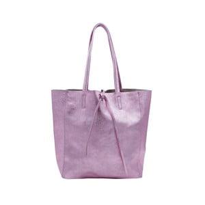 Ružovofialová kabelka z pravej kože Andrea Cardone Larrito