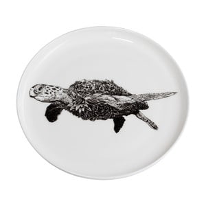 Dezertný tanierik z kostného porcelánu Maxwell & Williams Marini Ferlazzo Sea Turtle, ⌀ 20 cm