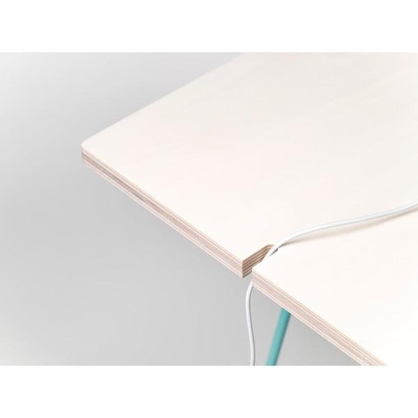 Doska k nohám stolu Studio 130x60 cm, bielená