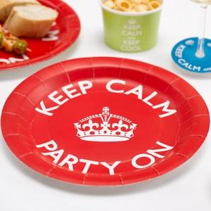 Sada 8 papierových tanierov Neviti Keep Calm