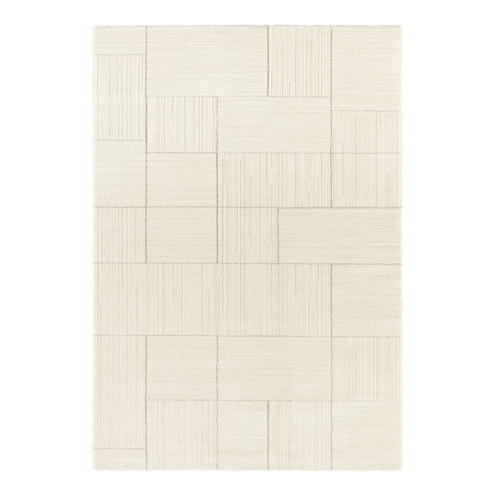 Krémový koberec Elle Decor Glow Castres, 80 x 150 cm