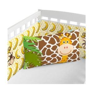 Textilná ohrádka na postieľku Little W Jungle, 210x40 cm