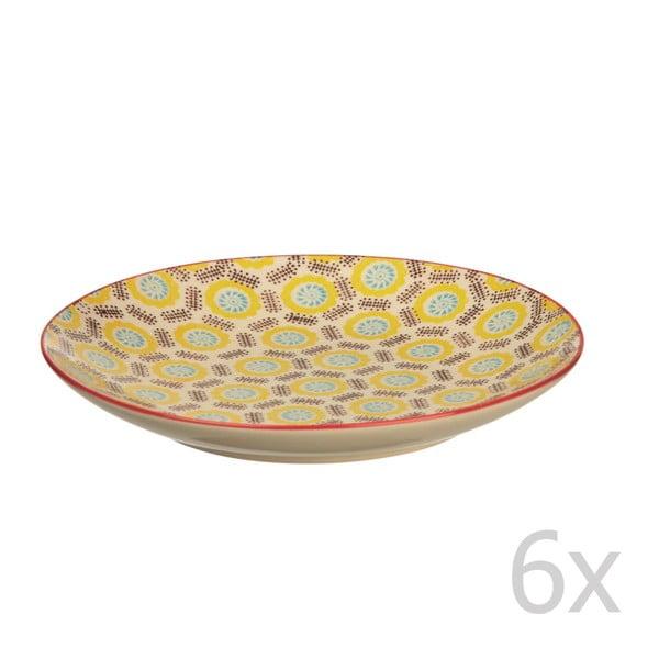 Sada 6 tanierov Fifties, 20 cm