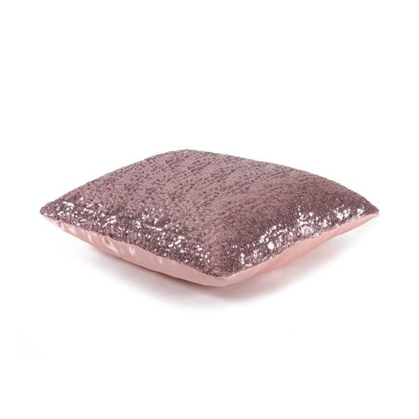Flitrovaný vankúš Shiny Pink, 43x43 cm