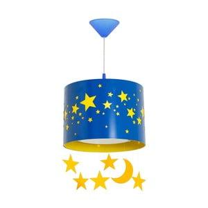 Modré závesné svietidlo Glimte Stars Big