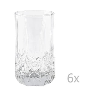 Sada 6 ks pohárov Galzone Glass, 240 ml