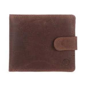 Kožená peňaženka Theo Conker Brown