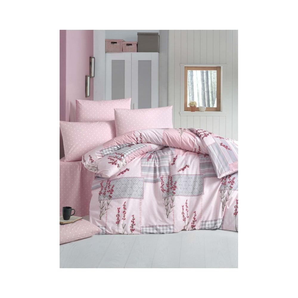 Bavlnené obliečky s plachtou a 2 obliečky na vankúše Powcak, 200 × 220 cm