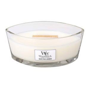 Vonná sviečka WoodWick Biely čaj a jazmín, 453 g, 50 hodín