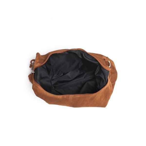 Kožená kabelka Mangotti 8003 Cognac