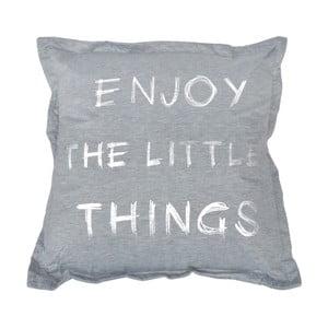 Sivý vankúš Little Things, 40×40cm