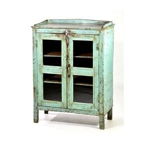 Presklená skriňa Goa 60x80 cm, modrá patina