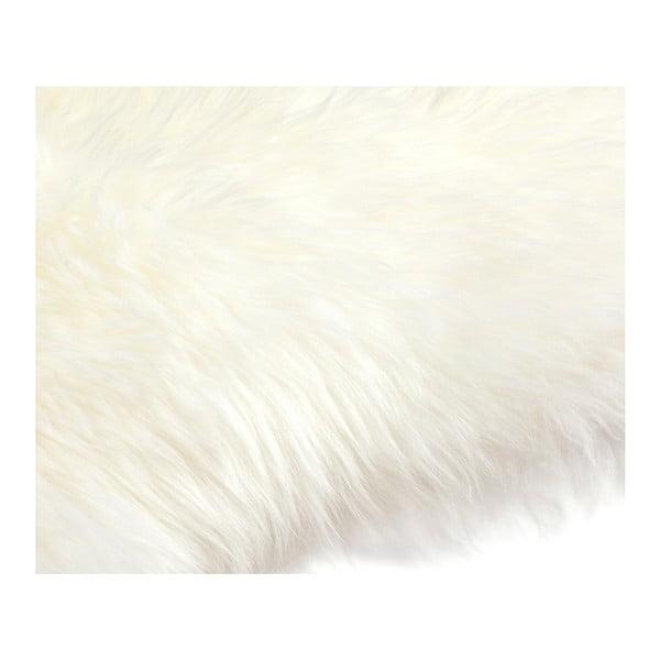 Biela ovčia kožušina Pipsa Mouton, 110×80cm