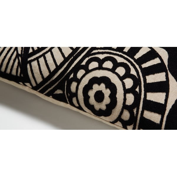 Čierny vankúš La Forma Minimal,30x50cm