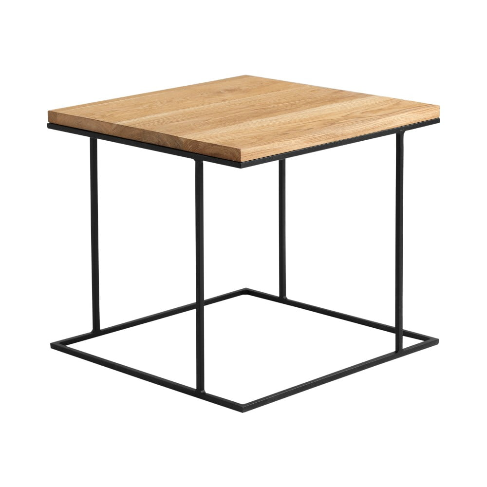 Odkladací stolík s čiernym podnožím a dubovou doskou Custom Form Walt