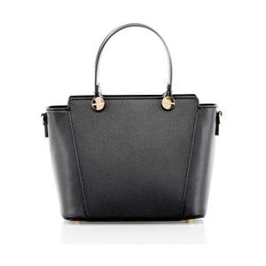 Čierna kožená kabelka Glorious Black Enny