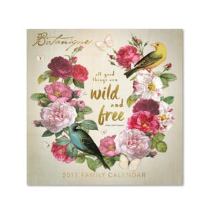 Rodinný kalendár Portico Designs Botanique SQ