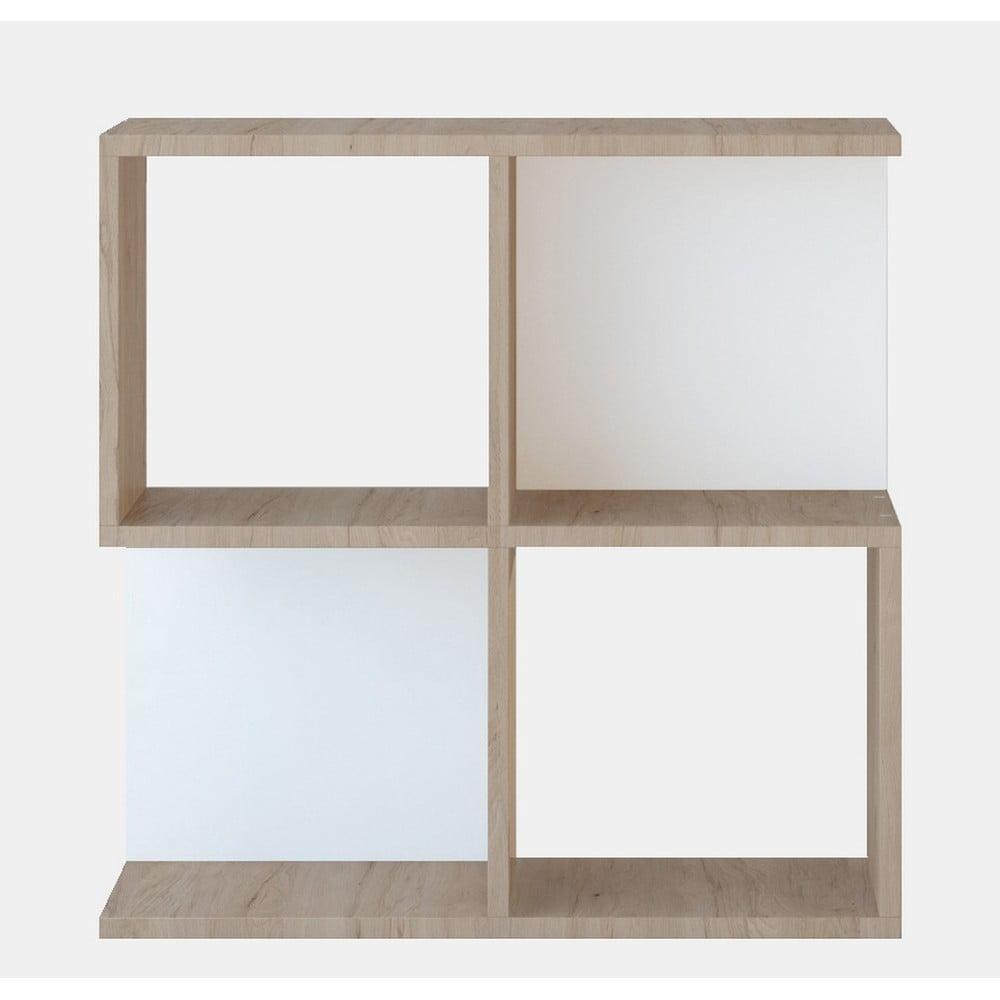 Hnedý odkladací stolík Martha, výška 60 cm