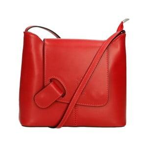Červená kožená kabelka Chicca Borse Carmello