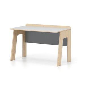 Sivo-biely písací stôl Devoto Nimbo