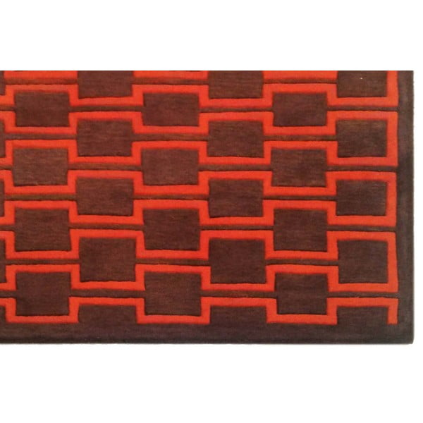 Koberec Illinois Orange Brown, 153x244 cm