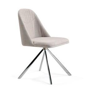 Sivobéžová jedálenská stolička Ángel Cerdá Lolla