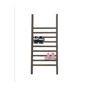 Odkladací rebrík na topánky Linen Escalera S Black, výška 90 cm