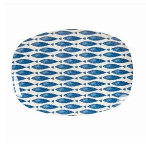 Melaminový servírovací tanier Couture Fishie, 30x21 cm