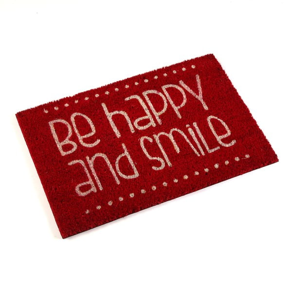 Rohožka Be Happy Red