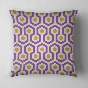 Vankúš Purple Beehive, 43x43 cm