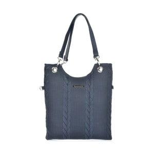 Tmavomodrá kožená kabelka Mangotti Bags Rosalia