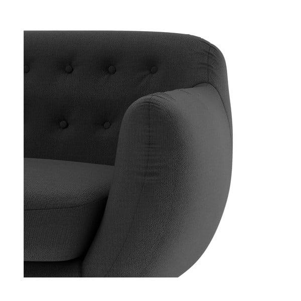 Antracitová sedačka pre dvoch Wintech Indigo Ornoco