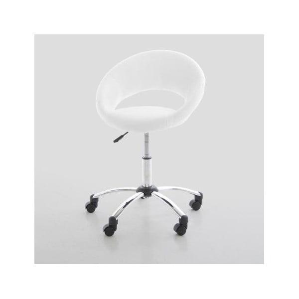 Biela kancelárska stolička Actona Plump