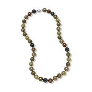 Zeleno-hnedý náhrdelník Mara de Vida Perldor, dĺžka 45cm