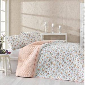 Sada prikrývky cez posteľ a dvoch obliečok na vankúš Fresh Orange, 200x220 cm