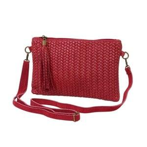 Tmavočervená kabelka / listová kabelka z pravej kože Andrea Cardone Michele