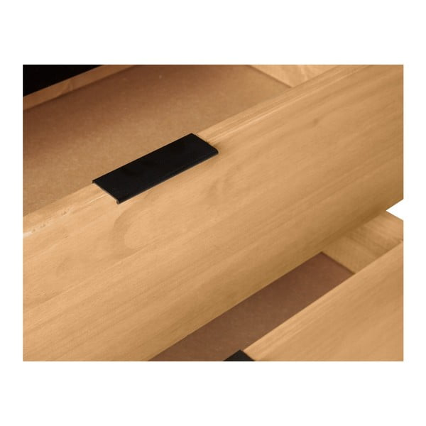 Hnedo-čierna komoda z masívneho borovicového dreva Marckeric Baku, šírka 80 cm