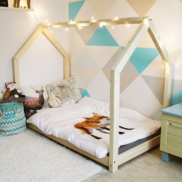Detská posteľ z borovicového dreva Benlemi Tery, 80 x 160 cm